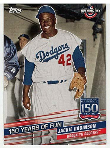(Jackie Robinson (Baseball Card) 2019 Topps Opening Day 150 Years of Fun # YOF-2 Mint)