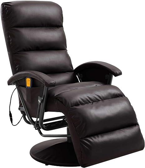 Vidaxl Tv Massagesessel Mit Warmefunktion Massage Elektrisch Fernsehsessel Relaxsessel Sessel Relaxliege Liegesessel Ruhesessel Braun Kunstleder Amazon De Kuche Haushalt