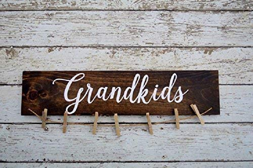 - Grandkids Sign Picture Holder Grandkids Make Life Grand Rustic Picture Frame Home Decor Hand Painted Sign