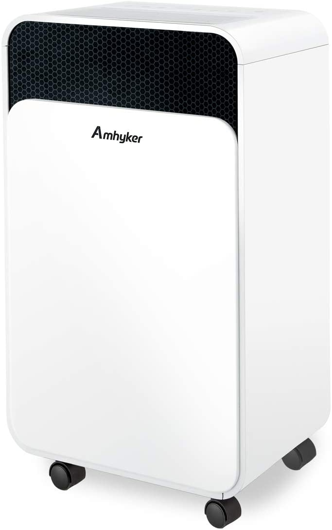 Amhyker 30pint Dehumidifiers for Home Basements, Bedroom, Kitchen, Bathroom,4 Gallons/Day Intelligent Humidity Control for Space Up to 1000 Sq Ft