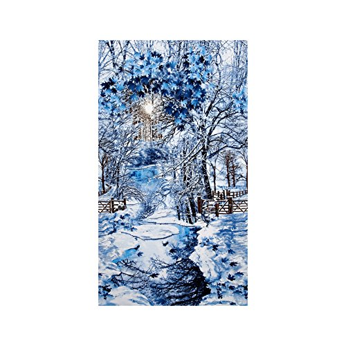 Timeless Treasures Scenic Snow Fall 24'' Panel Winter Fabric By The Yard (Panel Fabric By The Yard compare prices)