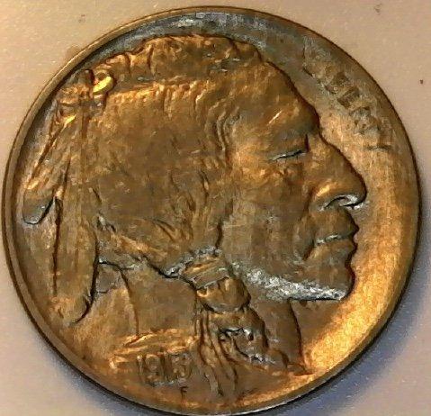 Buffalo 1913 (1913 P Buffalo Type One First Year of Buffalo Nickel AU)