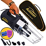 mini vac hand pump - Car Vacuum Cleaner High Power 12v DC 150W 4500PA Suction with LED Light Portable Handheld Auto Vacuum Wet Dry 14FT(5M)Power Cord. FREE BONUS - Carrying Bag + Car Wash Mitt +Microfiber Towel, Autozon