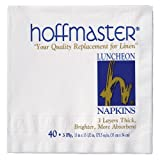 Hoffmaster 740140 Luncheon Napkin, 3 Ply, 1/4 Fold, 13-1/2'' Length x 13'' Width, White (Case of 960)