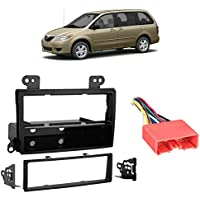 Fits Mazda MPV Van 2003-2006 Single DIN Stereo Harness Radio Install Dash Kit
