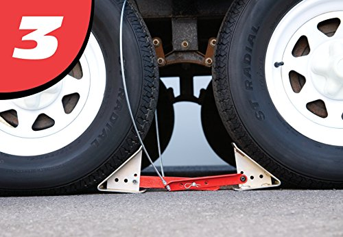 Fastway ONEstep Wheel Chock Double Pack For Tandem Axle Trailers and RVs 84-00-4840 --16 Inches to 24 Inches Long -- QTY 2 by Fastway (Image #4)