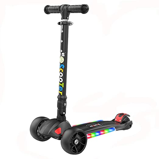 Patinete Plegable con 4 Ruedas PU con Led Luces Altura ...