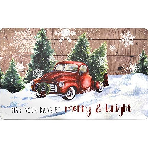 20″x32″ Holiday Themed Cushioned Anti-Fatigue Kitchen Mat (May Your Days Be Merry)