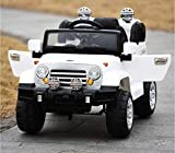 WHITE WRANGLER STYLE RIDE ON ELECTRIC CAR REMOTE CONTROL 12 VOLTS BATTERY