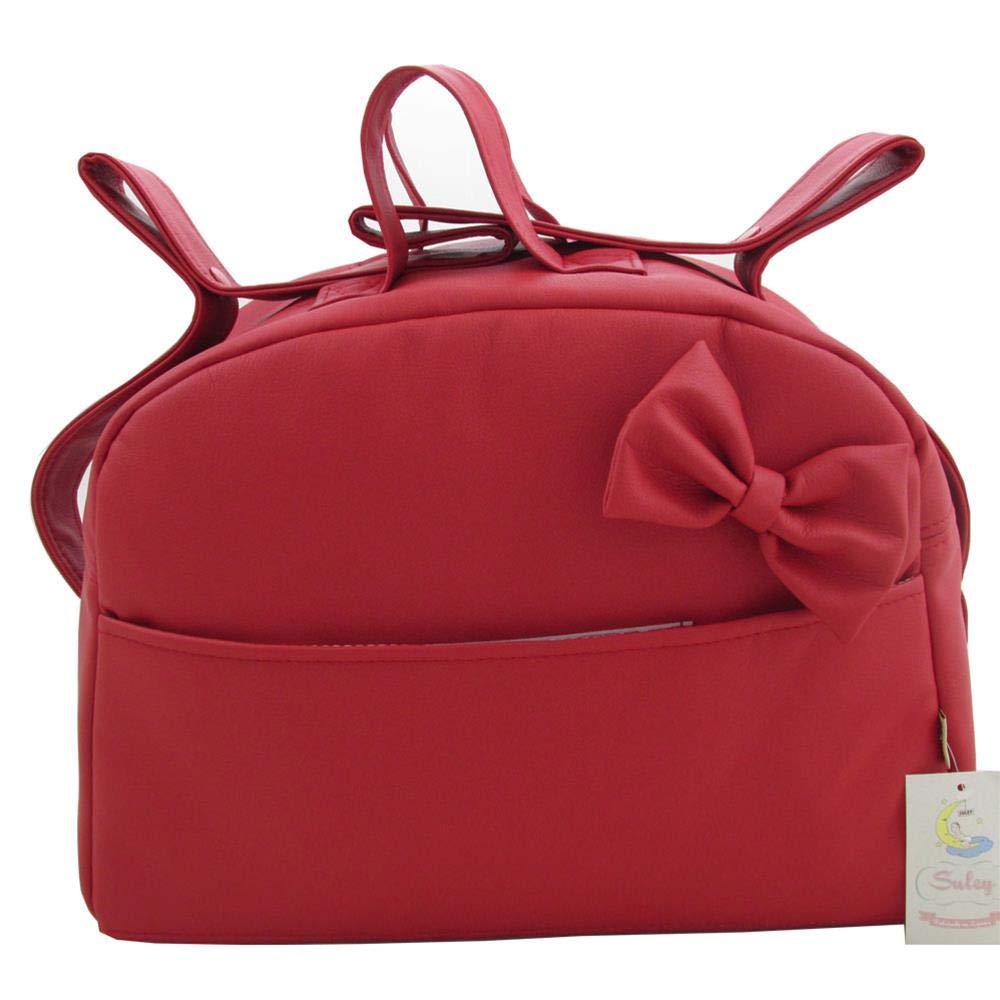 Color Rojo – 4 bolsillos Suley Bolso Polipiel Para Carro Bebe