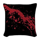 CafePress - Red Blood Splatter - Woven Throw Pillow, Decorative Accent Pillow