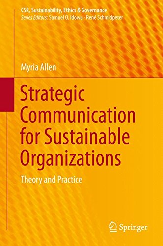 Strat.Communication F/Sustainable Org.