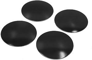uxcell 4Pcs 60mm Dia Black Aluminum Alloy Car Wheel Sticker Hub Caps Centre Cover Decor