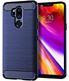 LG G7 ThinQ Case, LG G7 Case, Asmart Resilient Shock Absorption LG G7 ThinQ Case Slim Carbon Fiber Bumper Cover Flexible TPU Protective Phone Case for LG G7 ThinQ (Blue)
