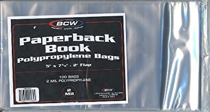 Amazon.com: 300 – BCW libro de bolsillo bolsas (100 mangas ...