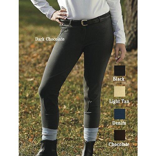 - TuffRider Ladies Cotton Breeches  Light Tan 26 Reg