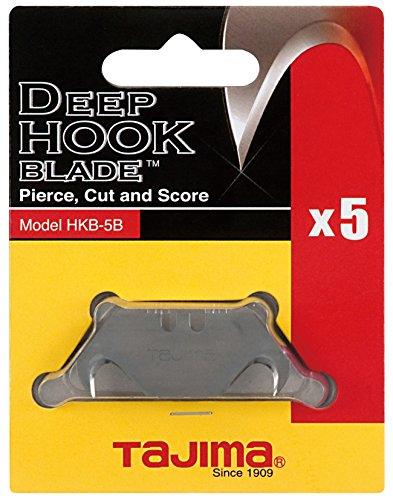 (Tajima HKB-5B Hook Razor Blades, 5 Pack)