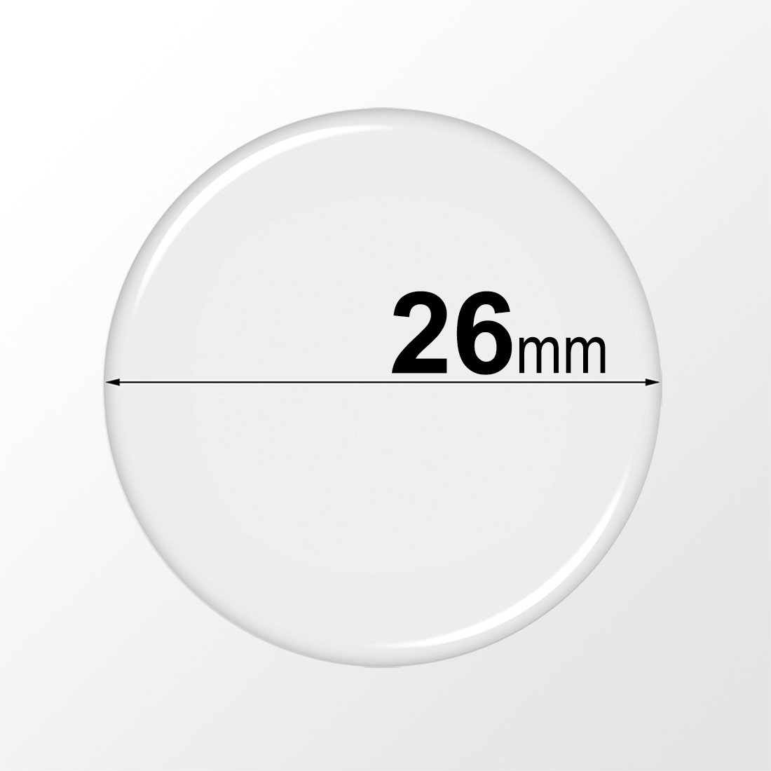 500 Pcs. Dia: 26mm Clear Round Epoxy Stickers - FREE SHIPPING