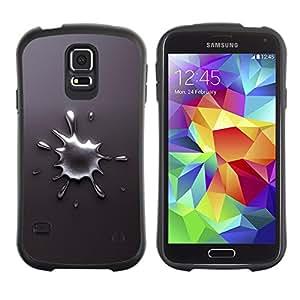 Suave TPU Caso Carcasa de Caucho Funda para Samsung Galaxy S5 SM-G900 / Abstract Splash / STRONG