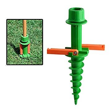 Quick Easy In Ground Umbrella Stand Pole Holder Tiki Torches