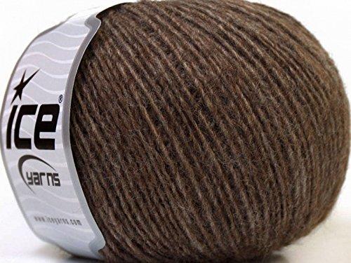 Peru Alpaca Light DK Yarn - Light Brown Merino Wool Alpaca Acrylic Blend 50 Gram 191 Yards (Alpaca Peru Wool Yarn)