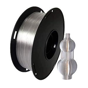 NOVAMAKER 3D Printer Filament - Transparent 1.75mm PETG Filament, PETG 1kg(2.2lbs), Dimensional Accuracy +/- 0.03mm
