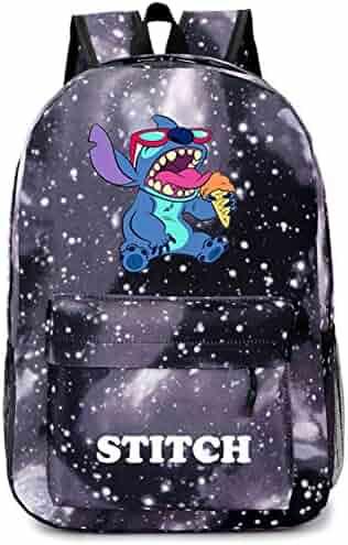 YOURNELO Cartoon Lilo   Stitch Backpack Canvas School Bag Bookbag for Boys  Girls 3189884821