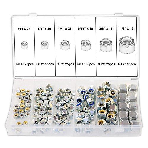 - Ansen Tools AN 204 Nylon Lock Nut Assortment SAE, 150 piece