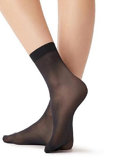New Womens Sheer Ankle High Hosiery Socks Everyday Pop Sock Anklets 15 Denier