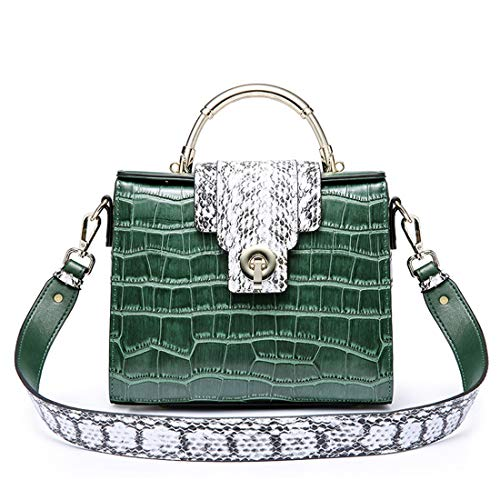 Kelly Bolsa Bloqueo Cuadrado Green Verde Green Retro Cocodrilo De Cuero Hungrybubble color Dark Bolso Mensajero Simple dSwtqy