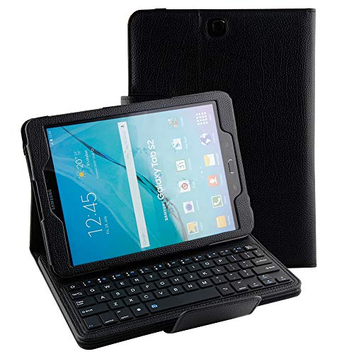 - Smart Keyboard Case for Samsung Galaxy S2 Model SM-T810 Tablet Case, Slim Lightweight Stand Cover with Detachable Wireless Bluetooth Keyboard Folio Compatible Samsung S2 9.7 T813/T815 (Black)