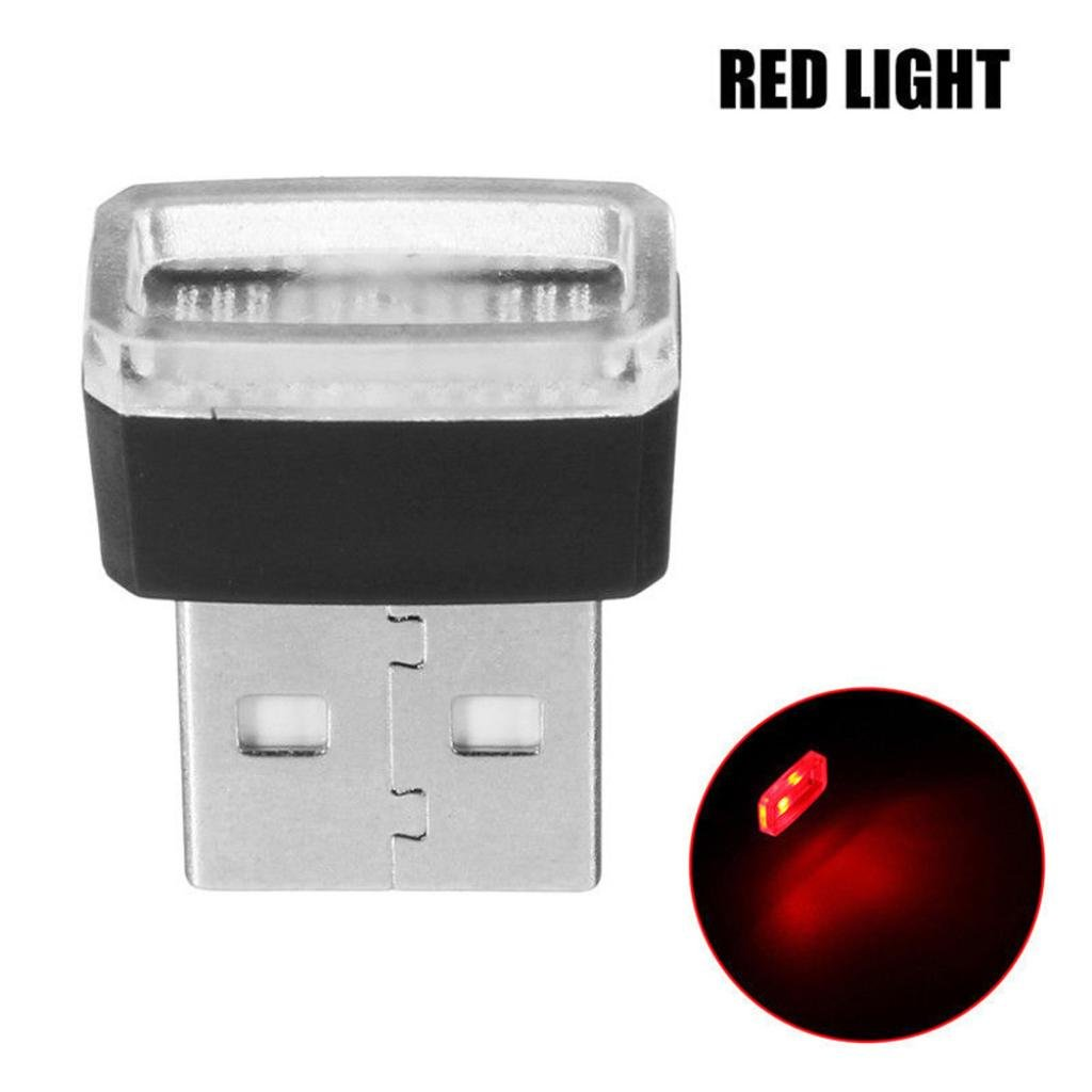 Glumes USB Led Light, Mini Wireless Car Interior Lighting Atmosphere Light Accessory Universal Ambient Lamps for Bedroom,Car Interior Decoration, Camping, Party,Holiday (red)