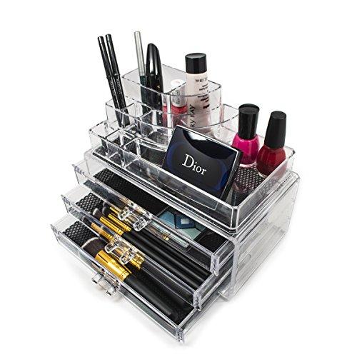 Amazon.com: Sorbus Acrylic Cosmetics Makeup And Jewelry Storage ...