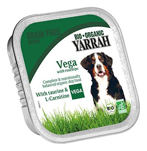 Yarrah Vegetarische Bröckchen 150 g Bio Hundefutter, 14er Pack (14 x 0.15 kg)