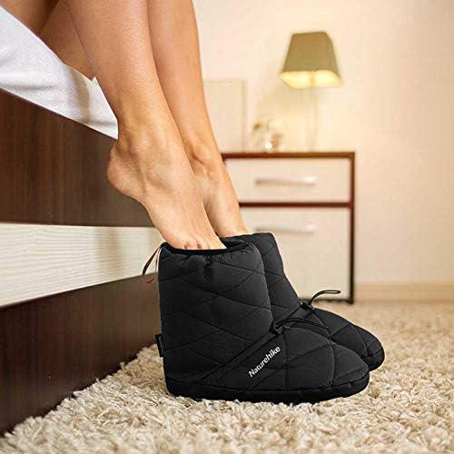 Tacey Chaussures de Camping Hautes en Coton, Coupe-Vent et Imperméables Bottes en Peluche Légères et Antidérapantes pour Le Camping Intérieur et Extérieur