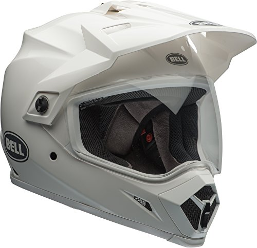 Bell MX-9 Adventure Helmet With MIPS - Solid (XX-LARGE) (WHITE)