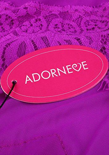 Adorneve - Salto de cama - para mujer morado
