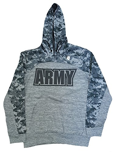 Hot Fashion US Army Gray Graphic Fleece Pullover Hoodie free shipping