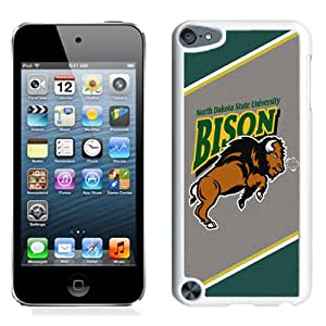 Beautiful Designed With NCAA Big Sky Conference Football North Dakota 7 Protective Cell Phone Hardshell Cover Case For iPod 5 Phone Case White