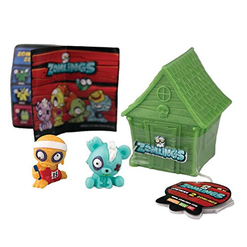Set of 2 ZOMLINGS /& HOUSE Series One Zomlings In The Town Mystery House and Figure Packs
