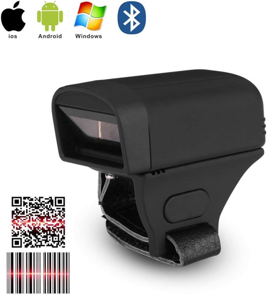 Scanner Bluetooth Ad Anello Adatto Per Supermercati Logistica,2dredlight Scanner Di Codici A Barre 2D 1D Classe Di Protezione IP64 Supporto IOS Windows Android