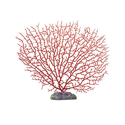 Pawliss Aquarium Decor Fish Tank Decoration Coral Soft Red Small