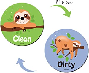 Tsingtop Clean Dirty Dishwasher Magnet Sign,Reversible Flexible Flip Sign,Reversible Indicator Dishwasher Magnetwith Bonus Universal Magnetic Plate for All Dishwasher.