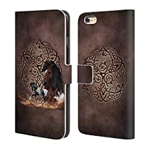 Official Brigid Ashwood Horse Celtic Wisdom Leather Book Wallet Case Cover For Apple iPhone 6 Plus / 6s Plus