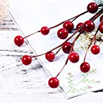 ULTNICE-10pcs-Small-Artificial-Pine-Picks-Stimulation-Berry-Pine-Needles-Red-Berry-Flower-Ornaments-for-Christmas-Flower-Arrangements-Wreaths-Holiday-Decorations