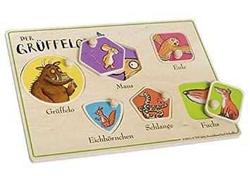 Grüffelo 73129 Steckpuzzle Aus Holz Zur Frühförderung Amazon De