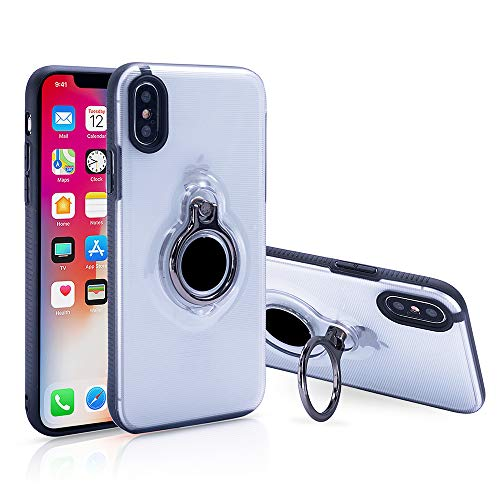 Spilay iPhone Xs Max Case,Ring Holder Stand Compatible Magnetic Car Mount Cover