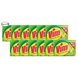 vim bar - Vim Dishwash Bar- Extra Lime Power (100g Approx.) (Pack of 12)