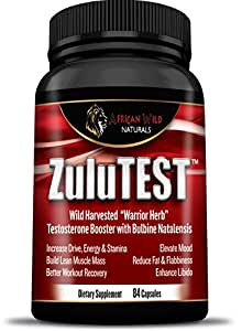 Amazon.com: ZuluTEST, Natural Testosterone Booster for Men and Women with Bulbine Natalensis