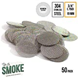 3/4 Inch Pipe Screens - Made in the USA 304 Stainless Steel Wire Mesh Filters (50+ Pack)
